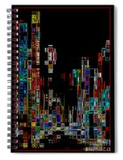 Night On The Town - Digital Art Spiral Notebook