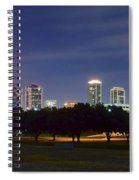 Night Pano Of Fort Worth Spiral Notebook