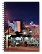 Night Panorama Of Okc Spiral Notebook