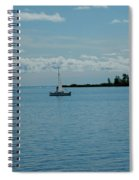 Night Sailing At Port Hope Bay Michigan Spiral Notebook