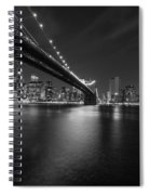 Night Scape Bw Spiral Notebook