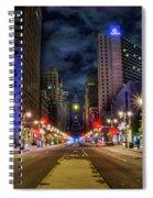 Night Shot Of Broad Street - Philadelphia Spiral Notebook