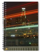 Night Shot Of Downtown Los Angeles Skyline From 6th St. Bridge Spiral Notebook