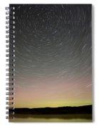 Night Shot Star Trails Lake Spiral Notebook