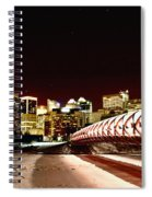 Night Shots Calgary Alberta Canada Spiral Notebook