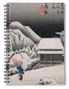 Night Snow Spiral Notebook