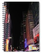 Night Time At Times Square Spiral Notebook