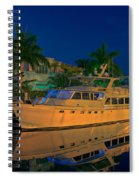 Night Time In Fort Lauderdale Spiral Notebook
