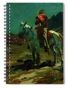 Night Time In Wyoming Spiral Notebook