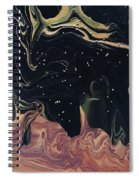 Night Time On Sahara Spiral Notebook