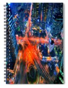 Night Traffic  Spiral Notebook