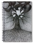 Night Tree Moon And We  Spiral Notebook