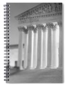 Night Us Supreme Court Washington Dc Spiral Notebook