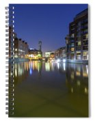 Night View Across River Avon To Temple Bridge Bristol England Spiral Notebook