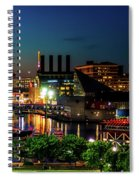 Night View Inner Harbor Spiral Notebook