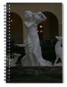 Night View Of Fountain In Front Of The Arlington Hotel, Arkansas, Ar Spiral Notebook