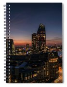 Night View Of The City Of London Spiral Notebook
