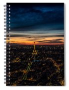 Night View Over Paris With Eiffel Tower Spiral Notebook