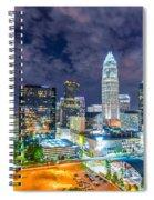 Night View Scenes Around Charlotte North Carolina Spiral Notebook