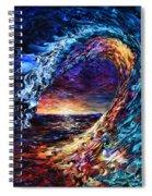Night Wave Spiral Notebook