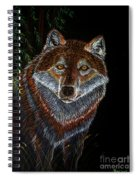 Night Wolf Spiral Notebook