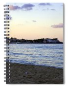 Nightfalls Over The Mediterranean Spiral Notebook