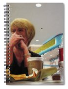 Nighthawks At The Foodcourt Spiral Notebook