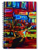 Nightlights On Main Street Spiral Notebook