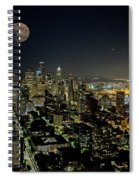 Nightlights Seattle Washington  Spiral Notebook