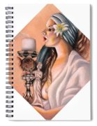 Nights Candle Spiral Notebook