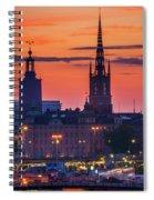 Nightsky Over Stockholm Spiral Notebook