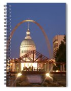 Nighttime At The Arch Spiral Notebook
