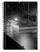 Nighttime Street Scene With Traffic Spiral Notebook