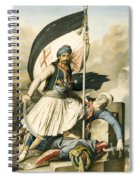 Nikolakis Mitropoulos Raises The Flag With The Cross At Salona On Easter Day 1821 Spiral Notebook