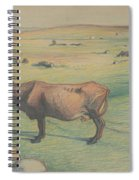 Nils Kreuger, 1858-1930, Cow In The Meadow Spiral Notebook