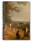 Nine Greyhounds In A Landscape Spiral Notebook