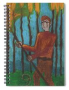Nine Of Wands Illustrated Spiral Notebook