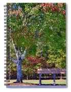 Ninety Six National Historic Site Bench In Autumn  Spiral Notebook