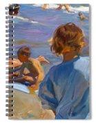 Ninos En La Playa. Valencia Spiral Notebook