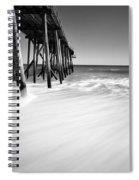 Nj Shore In Black And White Spiral Notebook