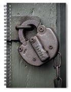 No Admittance  Spiral Notebook