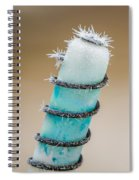Hoar Frost Crystal Spiral Notebook