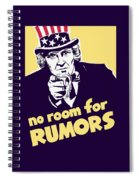 No Room For Rumors - Uncle Sam Spiral Notebook