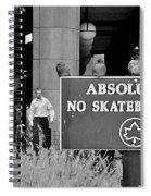 No Skateboarding Spiral Notebook