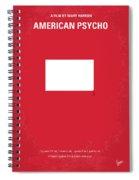No005 My American Psyhco Minimal Movie Poster Spiral Notebook