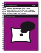No007 My Finnegans Wake Book Icon Poster Spiral Notebook