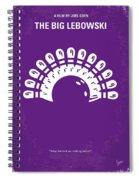No010 My Big Lebowski Minimal Movie Poster Spiral Notebook