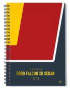 No011 My Mad Max Minimal Movie Car Poster Spiral Notebook