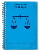 No014 My Cape Fear Minimal Movie Poster Spiral Notebook