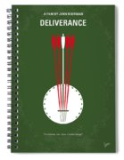 No020 My Deliverance Minimal Movie Poster Spiral Notebook